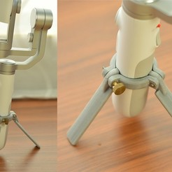 Download free STL files stand tripod to Xiaomi Mijia 3 Axis Handheld Gimbal Stabilizer, mrchendiy