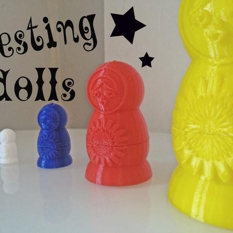 Free STL Traditional Nesting Dolls, Ventwallader