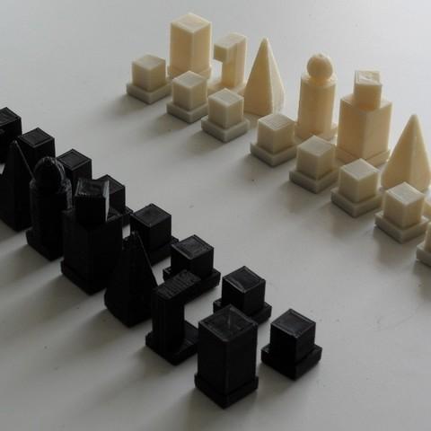 Télécharger objet 3D gratuit Bauhaus Modèle I 1922 Jeu d'échecs, Azagal