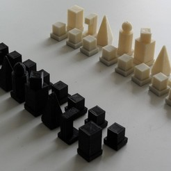 Free STL files Bauhaus Model I 1922 Chess Set, Azagal
