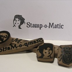 Free 3D printer files Stamp-o-Matic, Azagal