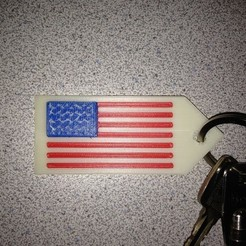Free 3d print files Stars And Stripes Keychain, Lurgrod