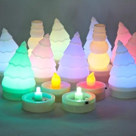 Free 3D printer designs Parametric LED Tea Light, Lurgrod