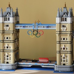 Download free 3D printer designs Olympic Lego Rings, Lurgrod