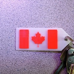 Download free 3D printer templates Maple Leaf Keychain, Lurgrod