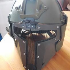 IMG_20200305_143654.jpg Télécharger fichier STL gratuit Masque airsoft pour chasseur de primes • Modèle pour imprimante 3D, TedGhast