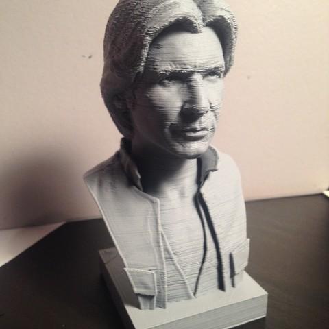 Free 3D printer model Han Solo Bust, TedGhast