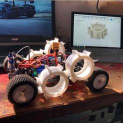 Fichier 3D gratuit RC Car Mini Buggy/Truggy 1:18 Pneus hexagonaux 8mm eau et boue Pneus, Celil27