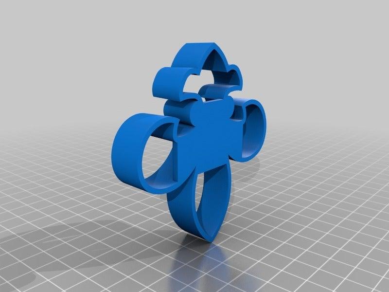 d733f99510e0aa110fba394994b9f0bb.png Télécharger fichier STL gratuit Coupeuse de biscuits Fleur de Lis • Design à imprimer en 3D, terbear9876