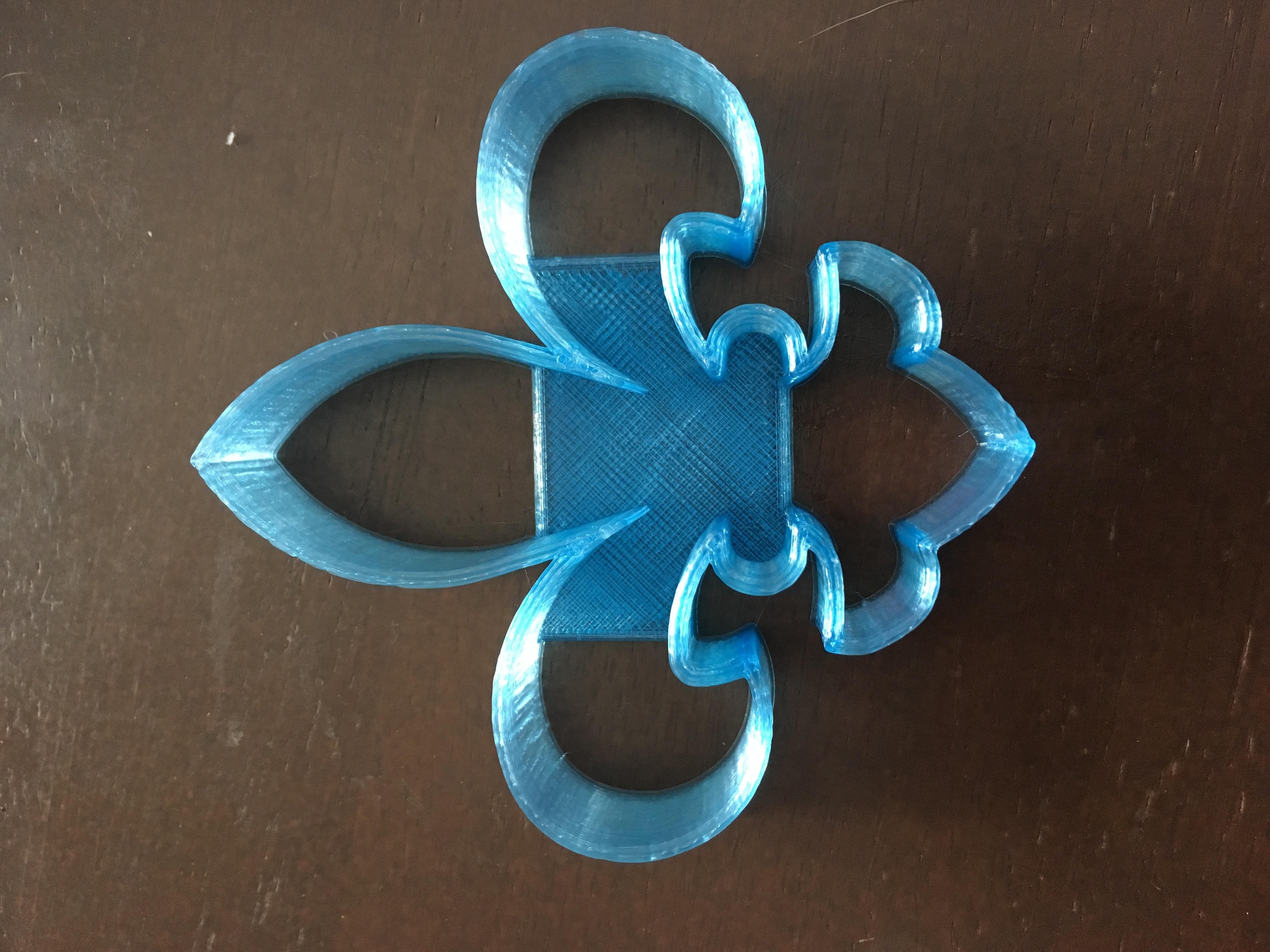 IMG_8023.JPG Télécharger fichier STL gratuit Coupeuse de biscuits Fleur de Lis • Design à imprimer en 3D, terbear9876