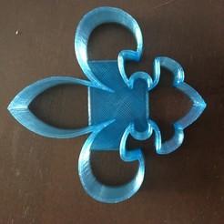 Télécharger fichier STL gratuit Coupeuse de biscuits Fleur de Lis • Design à imprimer en 3D, terbear9876