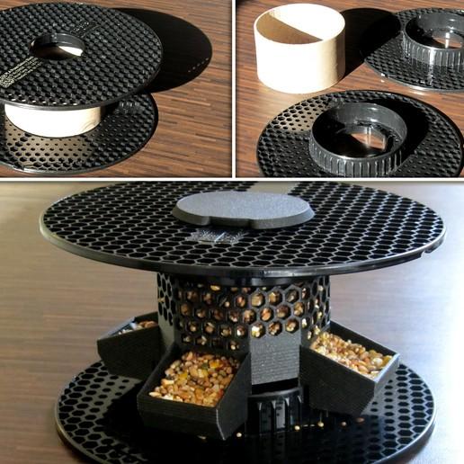 pic1.jpg Download free STL file Bird Feeder [prusament spool] • 3D print model, 3d-dragar