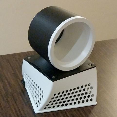 Impresiones 3D gratis Ventilador sin cuchillas de 120 mm de nido de abeja, 3d-dragar
