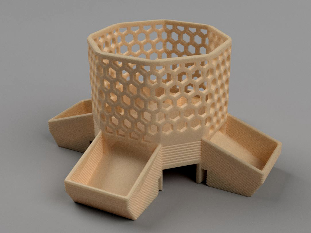 pic3.jpg Download free STL file Bird Feeder [prusament spool] • 3D print model, 3d-dragar