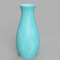 Télécharger fichier imprimante 3D Vase - Herbe florale en relief, jpt83