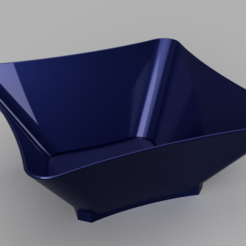 Simple square bowl.PNG Download STL file Smooth square bowl • 3D printer template, jpt83