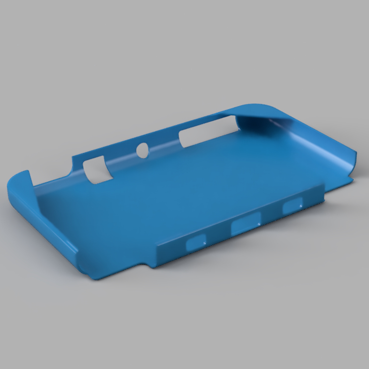 N3DSXL Cover Bottom.jpg Download STL file Protective Cover for Nintendo New 3DS XL • 3D printer design, jpt83
