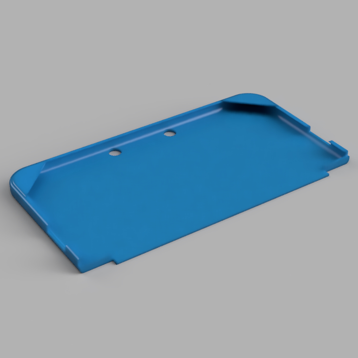 N3DSXL Cover Top.jpg Download STL file Protective Cover for Nintendo New 3DS XL • 3D printer design, jpt83