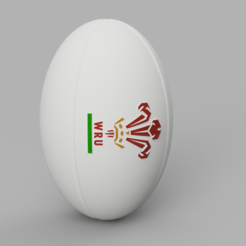Download 3D printer designs Rugby Ball - WAL, jpt83