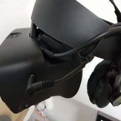 20191211_234339.jpg Download free STL file Oculus Rift S Behringer HPX4000 Headphone Holder • 3D printable model, 3DPrintiverse