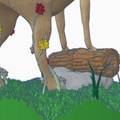sm-back-right-flowers.png Download STL file Epic deer • 3D printable template, GoogCraft