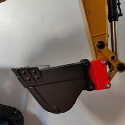 Download free STL Connecting rod +10mm Excavator HUINA 580 V3, Grandseb31