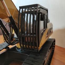 Descargar archivos 3D rejilla de protección de la cabina de la excavadora HUINA 580, Grandseb31