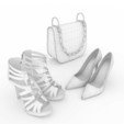 3D printer models Shoes and bag, jlnrdm
