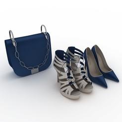 3D printer models Shoes and bag, jlnrdm