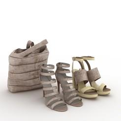Archivos STL Zapatos y bolsa, jlnrdm