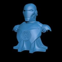 Imprimir en 3D gratis Ironman Bust, gabasebas