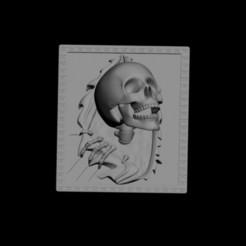 Download free 3D printing designs SkullWall, gabasebas