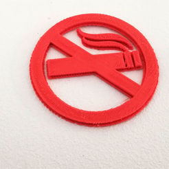 Download 3D printer designs No Smoke sign, dorelpuchianu