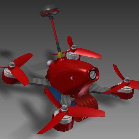 a2d0734a14cb52fba1d90088006378c5_display_large.jpg Télécharger fichier STL gratuit Realacc X210 pod (qav-x). Racing Quad N!PodWE • Modèle imprimable en 3D, alexlpr