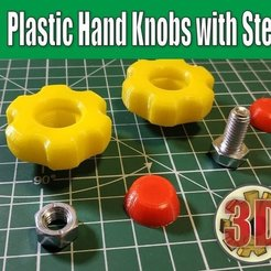 Free 3D model Plastic Hand Knobs with Steel Screws, alexlpr