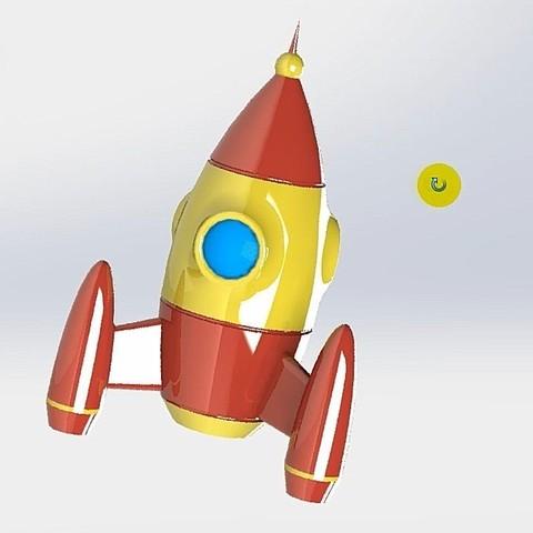 Télécharger fichier STL gratuit ROCKET DE JOUETS • Plan à imprimer en 3D, alexlpr