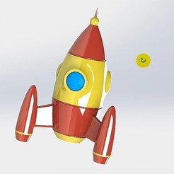 Free 3D printer files TOY ROCKET, alexlpr