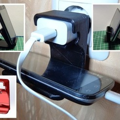 Free 3D printer designs Cell Phone Charger Holder 3 in 1, alexlpr