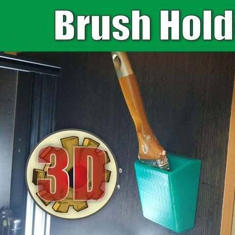 Download free 3D print files Brush Holder, alexlpr
