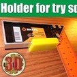 Download free 3D printer designs Holder for try square, alexlpr