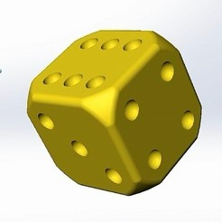 Download free 3D printer designs Dice, alexlpr