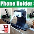 Download free STL Cell Phone Charger Holder 3 in 1, alexlpr