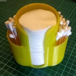 Container_cotton_buds_01_03.jpg Download free STL file Container for Cotton Buds & Cotton Pads • 3D print model, alexlpr