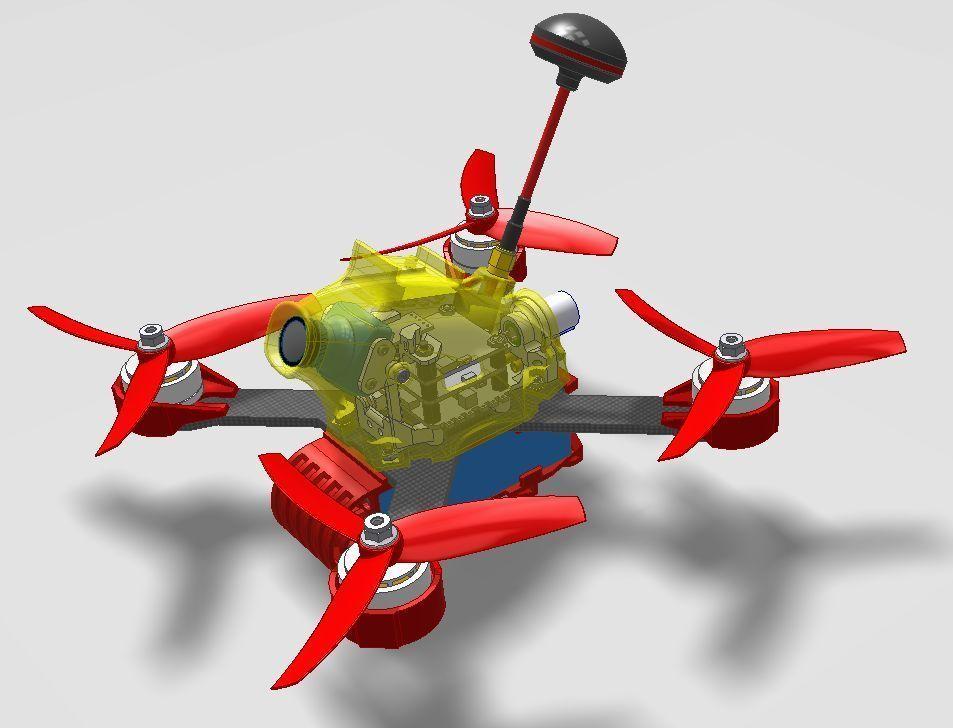 fe24fda367da05182992b5a779cee806_display_large.jpg Télécharger fichier STL gratuit Realacc X210 pod (qav-x). Racing Quad N!PodWE • Modèle imprimable en 3D, alexlpr