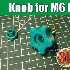 Download free 3D printer designs Knob for M6 Bolt (Nut), alexlpr