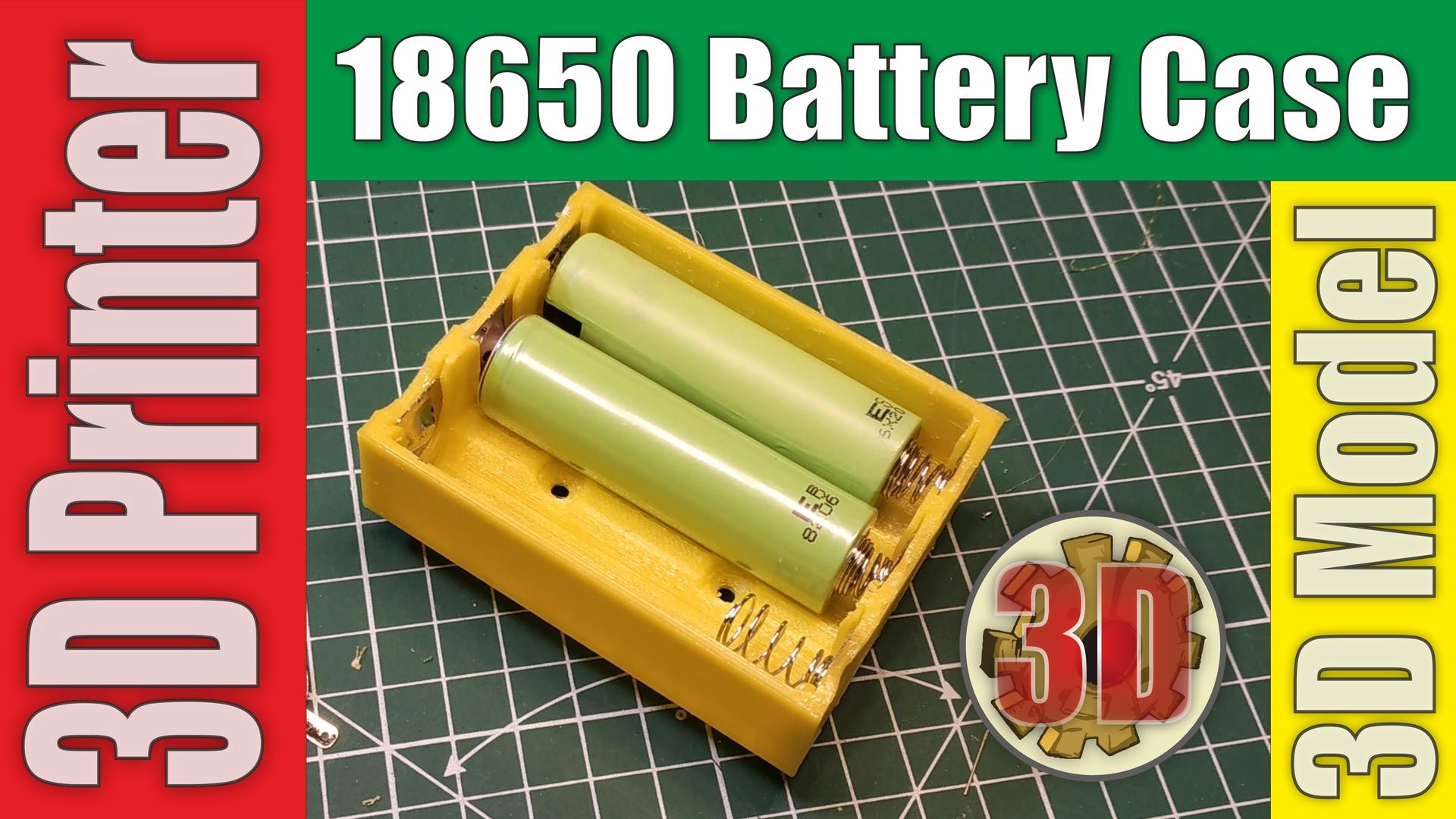 j18650case.jpg Télécharger fichier STL gratuit 18650 3S Supports / Chargeurs • Objet pour imprimante 3D, alexlpr