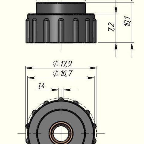 89de333706389ca2fc42be47abb74cf3_display_large.jpg Télécharger fichier STL gratuit Bouton de mise à niveau pour Creality CR-10S • Modèle imprimable en 3D, alexlpr