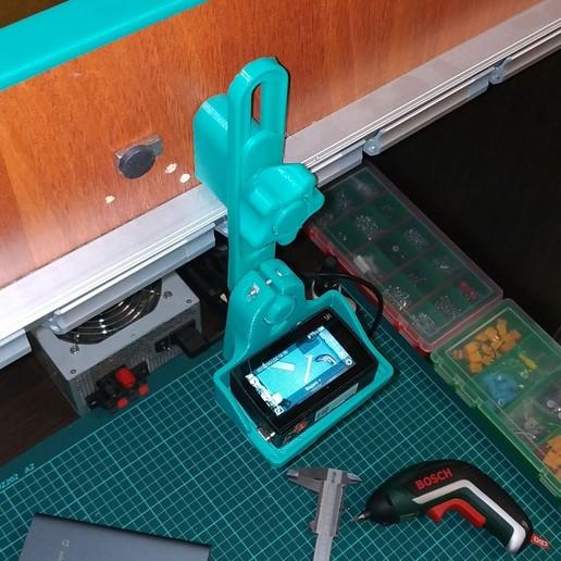 IMG_20191114_200711.jpg Télécharger fichier STL gratuit Supports de caméra pour votre Home Studio (YI, YI 4K) • Modèle pour impression 3D, alexlpr