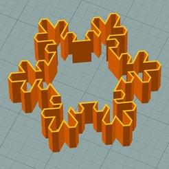 sf2.JPG Download STL file Snowflake cookie cutter • Object to 3D print, 3deye