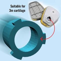 Download STL Mask for 3m cartilage, 3deye
